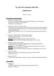 Dr. phil. Oliver Rauprich, Dipl. Biol. Publikationen - Institut für Ethik ...