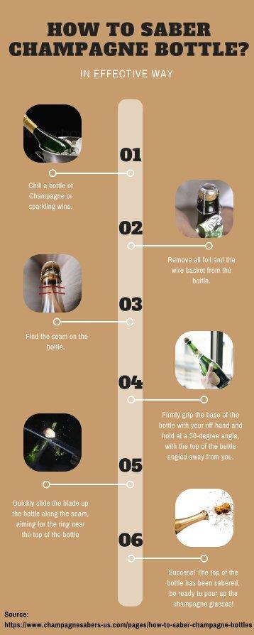 Saber Champagne Bottle in Six Steps