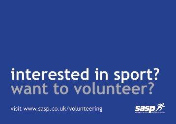 SASP volunteering