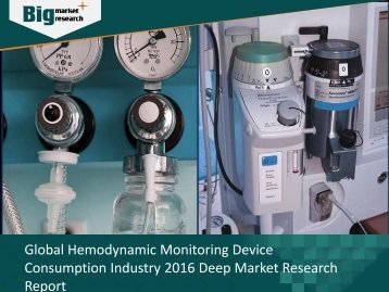 Global Hemodynamic Monitoring Device Analysis, Strategies & Growth 2016