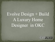 Evolve Design +Build - A Luxury Home Designer in OKC
