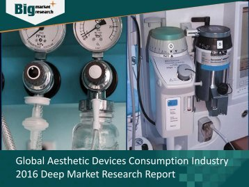 Global Aesthetic Devices Consumption Industry 2016 Deep Market Research Report
