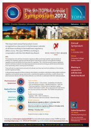 9th TOPRA Annual Symposium 2012