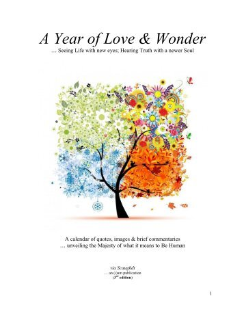 A Year of Love & Wonder (3rd edition)