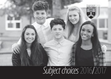 Subject choices 2016/2017