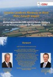 Wahlprogramm des CDU Kreisverbandes Nienburg 2016