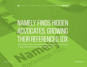 NAMELY FINDS HIDDEN ADVOCATES GROWING THEIR REFERENCES 10X
