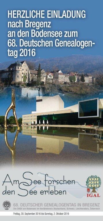 68 Deutscher Genealogentag in Bregenz 1