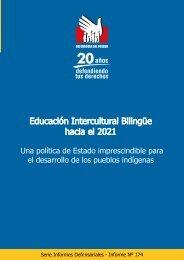 EDUCACIÓN INTERCULTURAL BILINGÜE HACIA EL 2021