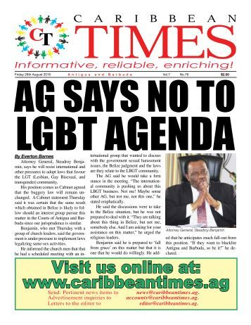 Caribbean Times 79th Issue - Friday 29th August 2016