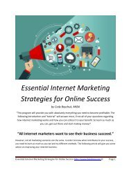 Essential Internet Marketing Strategies for Online Success