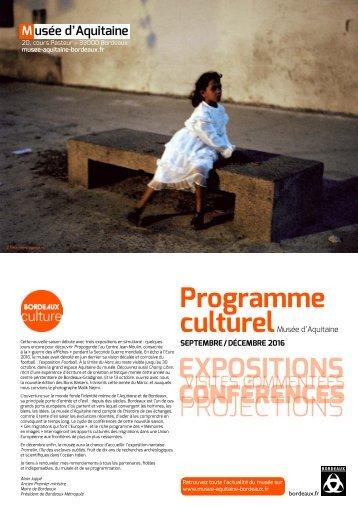 Programme culturel EXPOSITIONS PROJECTIONS
