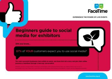 Beginners guide to social media for exhibitors