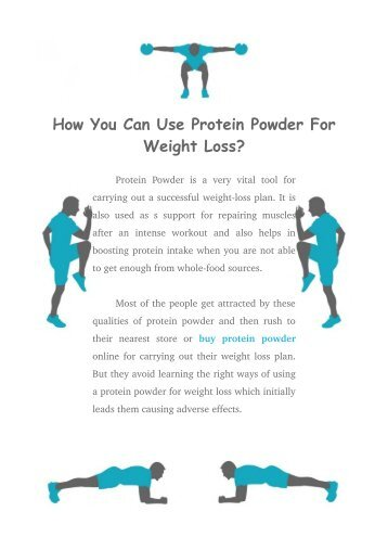 How You Can Use Protein Powder For Weight Loss?