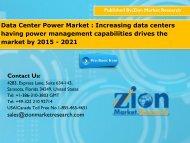Data Center Power Market
