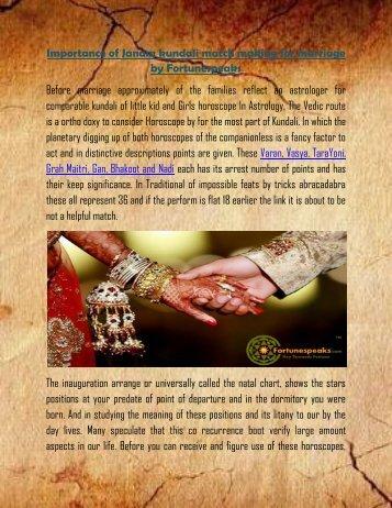 Kundali match making lal kitab