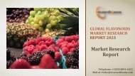 Global Flavonoids Market Research Report 2021