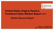 United States Angina Pectoris Treatment Sales Market Report 2021