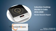 Induction Cooktop Market in India 2016-2020