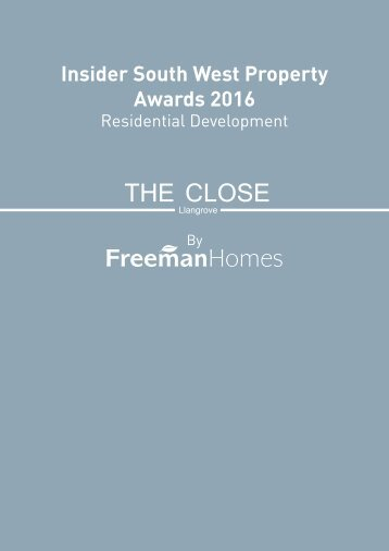2016 08 26  the insider property awards booklet 2016 The Close