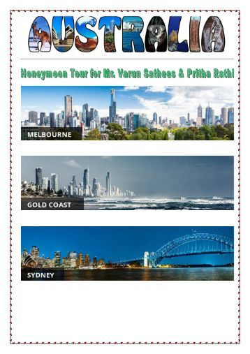 AUSTRALIA TRAVEL PLAN - PRINT