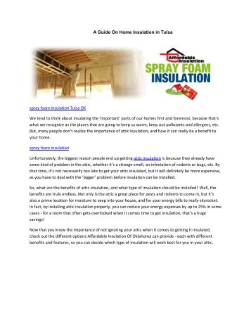 A Guide On Home Insulation in Tulsa