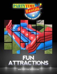 PartyTime Rentals Inflatable Catalog for 2016