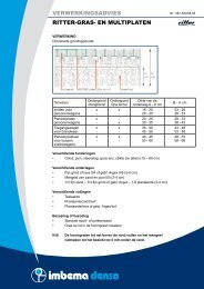 verwerkingsadvies ritter-gras- en multiplaten - Imbema Denso