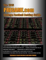 2016 Pregame.com College Football Betting Guide