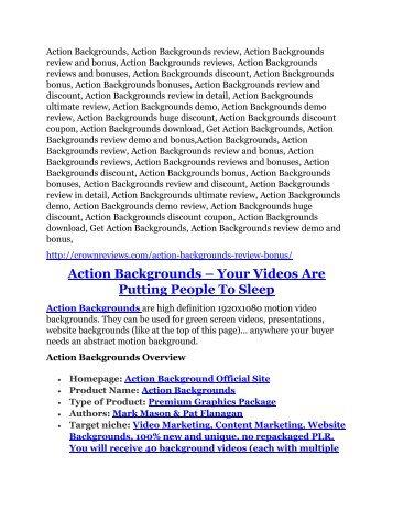 Action Backgrounds review & massive +100 bonus items