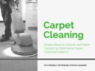 OneChoice Carpet Cleaning Canberra