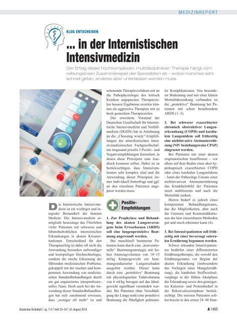 Klug entscheiden in der Internistischen Intensivmedizin