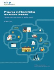 Preparing and Credentialing the Nation's Teachers