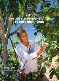2015 corporate responsibility report highlights