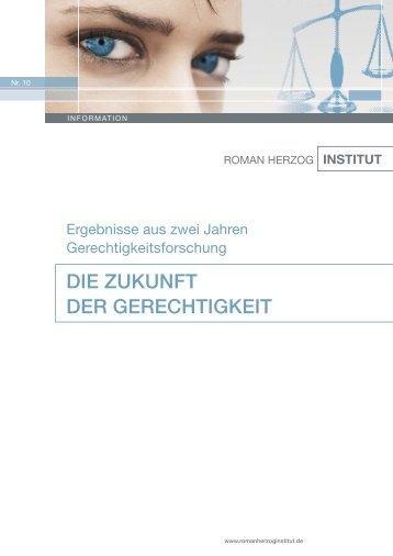 DIE ZUKUNFT DER GERECHTIGKEIT - Roman Herzog Institut