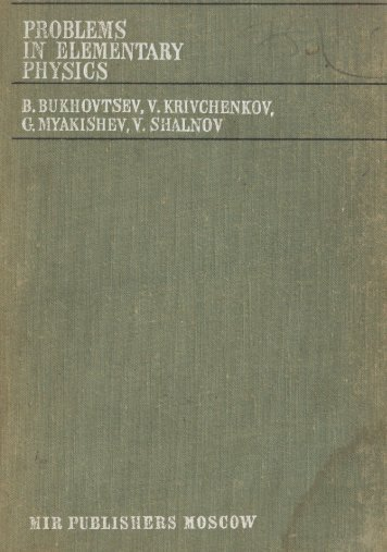 Bukhovtsev-et-al-Problems-in-Elementary-Physics