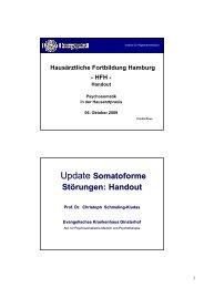 Update Somatoforme Störungen: Handout - Universitätsklinikum ...