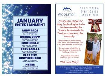 January 2016 Entertainment & Newsletter