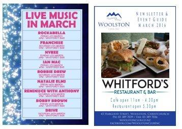 March 2016 Entertainment & Newsletter