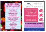 February 2016 Entertainment & Newsletter