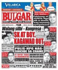 August 28, 2016 BULGAR: BOSES NG PINOY, MATA NG BAYAN