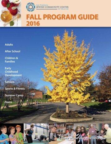2016 Fall Program Guide