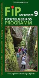Fichtelgebirgs-Programm - September 2016