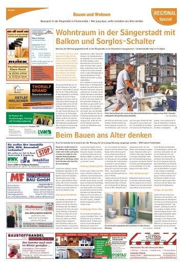 Regional Spezial|Bauen und Wohnen – Baureport Finsterwalde
