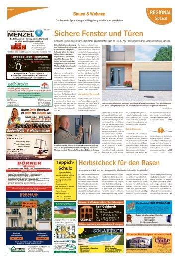 Regional Spezial|Bauen und Wohnen – Das Leben in Spremberg und Umgebung
