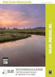 Wijk-Regio Woonmagazine # 25, september 2016
