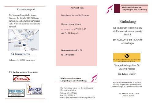 Einladung - BVF Landesverband Niedersachsen