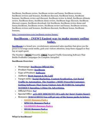 SociBoom Review and (FREE) SociBoom $24,700 Bonus