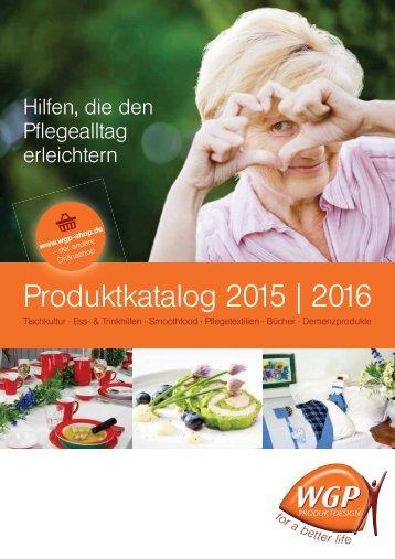 Produktkatalog 2015/2016 - WGP-Produktdesign