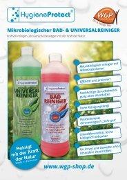 Mikrobiologische Reiniger HygieneProtect - WGP-Produktdesign